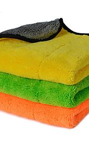 autoyouth super gruesa felpa paños de limpieza de coches de microfibra cuidado del automóvil microfibra pulir cera detallando toallas 3