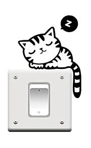 Tiere Feiertage Freizeit Wand-Sticker Flugzeug-Wand Sticker Dekorative Wand Sticker Lichtschalter Sticker, PVC Haus Dekoration Wandtattoo
