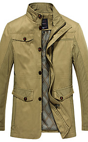 Men's Coats / Jackets Chic & Modern Jacket-Solid Colored