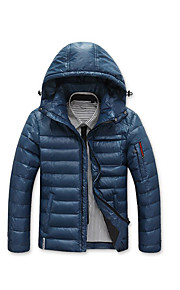Men's Down - Solid Hooded