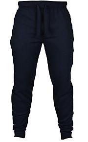 Hombre Activo Algodón Delgado Activo / Delgado / Pantalones de Deporte Pantalones - Un Color Gris / Deportes / Fin de semana