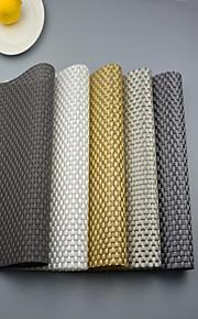 Polyester Fyrkantig Bordstabletter Glasunderlägg Mönstrad Miljövänlig Bordsdekorationer
