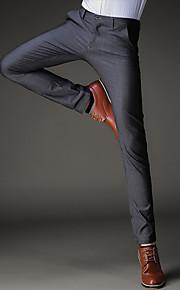 Ανδρικά Βαμβάκι Λεπτό Ίσια / Λεπτό / Δουλειά Παντελόνι - Μονόχρωμο Μαύρο 28