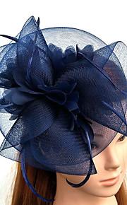 チュール / 羽毛 / ネット フラワー  -  魅力的な人 / 帽子 / 鳥かご型ベール 1個 結婚式 / パーティー かぶと