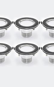 3W 6 LEDs Εύκολη Εγκατάσταση Χωνευτό LED Χωνευτό Σποτ Θερμό Λευκό Ψυχρό Λευκό 85-265V Γκαράζ Αποθήκη Διάδρομος / Σκάλες Μπάνιο