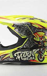 mejia terénní motocyklová závodní helma lesk žlutá plná tvář tlumící odolná helma motorsportu