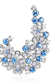 Dames Broches - Strass Modieus, Euramerican Broche Paars / Blauw Voor Bruiloft / Feest / Speciale gelegenheden / Dagelijks
