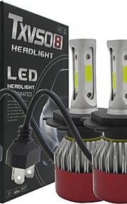 H4 Automatisch Lampen COB LED Koplamp / Mistlamp