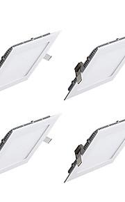 4pcs 9 W 850lm 45 LEDs Εύκολη Εγκατάσταση Χωνευτό Φωτιστικό Πάνελ Θερμό Λευκό Ψυχρό Λευκό 85-265V Διάδρομος/Σκάλες Μπάνιο Κρεβατοκάμαρα