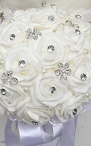 """פרחי חתונה זרים חתונה שזירה / אבן נוצצת / קֶצֶף 11.02""""(לערך.28ס""""מ)"""