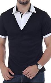 男性用 Polo シャツカラー ソリッド / 半袖