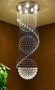 7 lumières Cristal Lustre Lumière dirigée vers le bas - Cristal, Ampoule incluse, 110-120V / 220-240V Ampoule incluse / GU10 / 10-15㎡