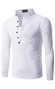 男性用 Tシャツ ストリートファッション スタンド ソリッド / 長袖