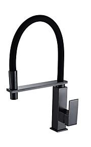 Стандартный Носик По центру Керамический клапан Начищенная бронза, кухонный смеситель