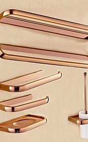 Bad Zubehör-Set Gute Qualität Antike Metal 6pcs - Hotelbad Toilettenbürstehalter Seifenschale Turm Bar Toilettenpapierhalter Wandmontage