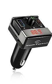 a7 bluetooth fm zender auto kit handsfree dual usb oplader aux mp3 speler auto draadloze radio bluetooth adapter
