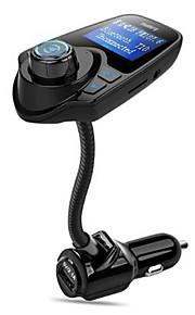 bluetooth fm zender draadloze in-car radio zender adapter / w usb autolader aux invoer 1.44 inch display tf kaart slot