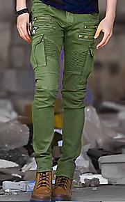 Ανδρικά Πανκ & Γκόθικ / Στρατιωτικό Βαμβάκι Λεπτό Αθλητικές Φόρμες / Φορέματα φορτίου Παντελόνι - Μονόχρωμο Μαύρο / Αθλητικά