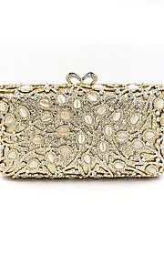 Women's Bags Metal Evening Bag Crystal Detailing for Wedding Event/Party All Seasons Gold