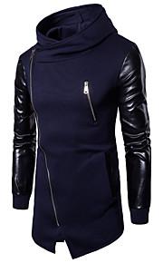 Bărbați De Bază / Punk & Gotic Zvelt Pantaloni - Bloc Culoare Negru / Capișon / Manșon Lung