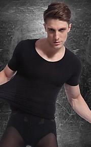 Муж. Пижамы, Однотонный Тонкая Черный