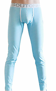 Hombre Long Johns Un Color 1 Pieza