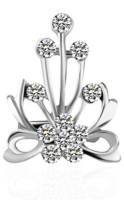 Dames Broches - Standaard Broche Zilver Voor Bruiloft / Feest