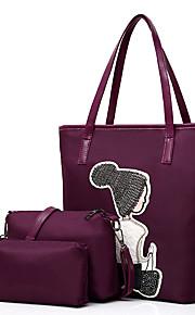 Women's Bags Oxford Cloth Bag Set 3 Pcs Purse Set Sequin for Shopping Casual Spring All Seasons Blue Black Gray Purple