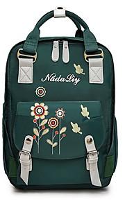 Unisex Bags Denim School Bag Pocket Zipper for Casual Office & Career All Seasons Green Gray
