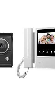xsl-v43e168-ltouch schermo cablato campanello visivo da 4.3 pollici lcd video monitor porta citofono sistema porta sblocco campanello