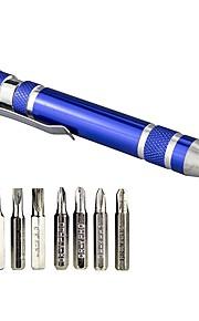 bærbar 8 i 1 aluminiumslegering pen styling multi-værktøj skruetrækker præcision mobiltelefon reparation værktøj kit