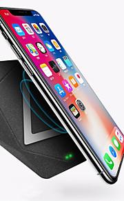 waza draadloze oplader qi gecertificeerd 10w snellader, 50% sneller (7,5w) voor iphone 8, 8p, x, 10w snellader voor samsung, lg, nokia, moto, etc