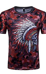 T-shirt Per uomo Attivo Essenziale Monocolore Alfabetico