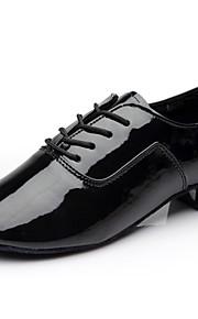 Hombre Moderno PU Zapatilla Interior Tacón Plano Negro 2 - 2 3/4inch Personalizables