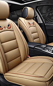 ODEER Seat Covers Beige PU Leather Cartoon for universal All years All Models