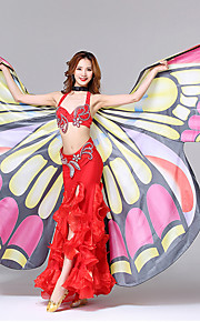 Аксессуары для танцев Красивые девушки Сценический реквизит Жен. Выступление Полиэстер Бабочки Рисунок Волнообразный Бабочки Мода