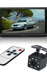 ZIQIAO 7inch LCD CCD Ledning 170 grader Car Reversing Monitor Vandtæt Multifunktionelt display LCD-skærm for Bil