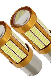 2pcs 1156 / P21W Bil Elpærer 21W 2100lm 106 LED Baglygte For Universel Alle Modeller Alle år