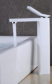 욕실 싱크 수도꼭지 - 와이드 스프레드 페인팅 주방, 욕조수전(Centerset) 싱글 핸들 하나의 구멍