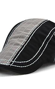 男性用 ヴィンテージ / 活発的 / ベーシック カラーブロック ベレー帽