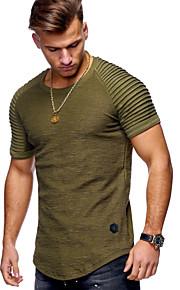 Pánské - Jednobarevné Základní Tričko Bavlna Kulatý Černá XL / Krátký rukáv