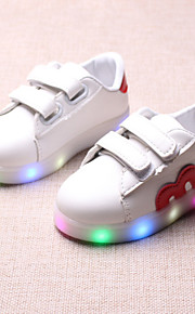 Poikien / Tyttöjen PU Bootsit Taapero (9m-4ys) / Pikkulapset (4-7 vuotta) Comfort / Välkkyvät kengät Ketjuilla / Tarranauhalla / LED Musta / Punainen / Sininen 봄 & Syksy / Kevät kesä / Polyuretaani