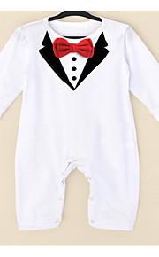 Dítě Chlapecké Základní Jednobarevné / Barevné bloky Mašle Dlouhý rukáv Bavlna / Polyester Kombinézy Bílá