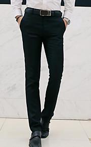 男性用 ベーシック プラスサイズ スリム スーツ / チノパン パンツ - ソリッド ライトブルー / ワーク