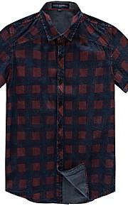 男性用 シャツ ベーシック チェック / 半袖