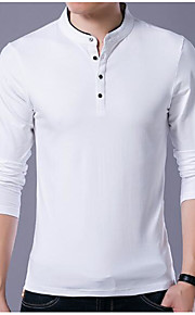 Ανδρικά Polo Μονόχρωμο Όρθιος Γιακάς Λεπτό Βαθυγάλαζο XXL / Κοντομάνικο