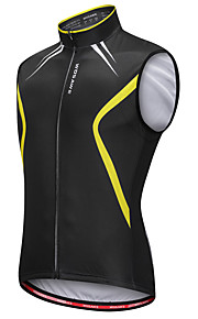 1a5effcbd76c WOSAWE Ανδρικά Αμάνικο Γιλέκο ποδηλασίας - Μαύρο   Κίτρινο Ποδήλατο Γιλέκο  Αθλητική μπλούζα Αντανακλαστικές Λωρίδες Πίσω