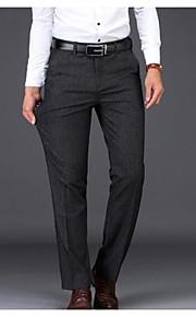 男性用 ベーシック スーツ パンツ - ソリッド ブラック