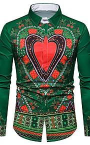 Муж. Рубашка Этно Зеленый L / Длинный рукав