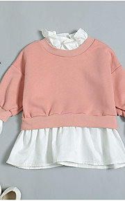 f87da0842e0 34 Μωρό Κοριτσίστικα Ενεργό Μονόχρωμο Μακρυμάνικο Μακρύ Πολυεστέρας Μπλούζα  με Κουκούλα & Φούτερ Ανθισμένο Ροζ / Νήπιο